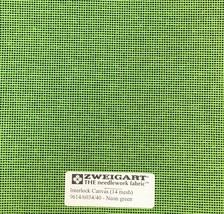 Interlock Needlepoint Canvas 14 Mesh Neon Green   Custom Cuts   Blank Canvas  - $7.13+