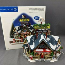 Department 56 The Original Snow Village Long Haul Truck Stop Missing Gas... - $48.33