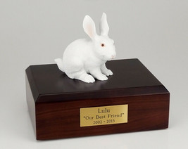 Rabbit White Figurine Pet Cremation Urn Available 3 Different Colors & 4... - $169.99+