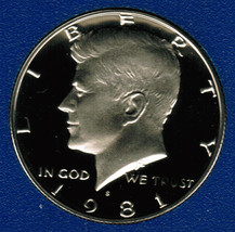 1981 S  Proof Kennedy Half Dollar CP2020 - $4.75