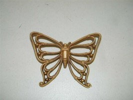 Vintage Dart Butterfly Faux Rattan Wall Decor Plaque 12740 - $14.84