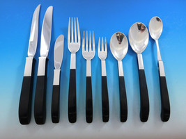 Contrast by Lunt Sterling Silver Flatware Set Service Mid Century Modern 218 pcs - $14,995.00