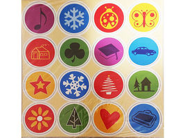Chipboard Accent Pieces, Set of 6 12x12 Sheets, Bright Colors image 6