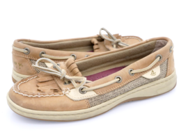 Sperry Top Sider Womens 5.5M Tan 9283284 Comfort Flat Casual Leather Boat Shoes - $27.99