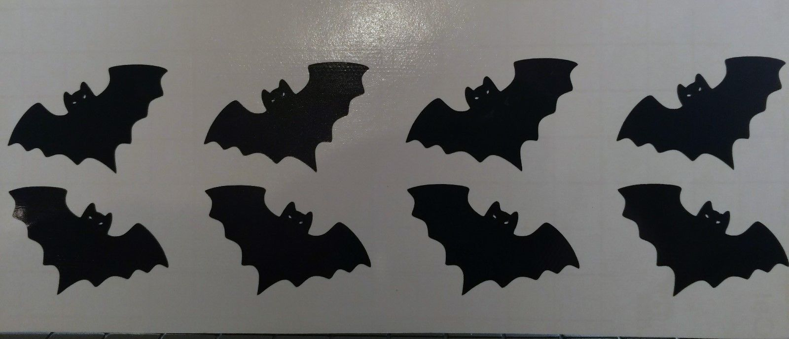 Halloween Bats Window Decal Sticker Sheet Set party cups tumblers FREE SHIPPING