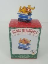Hallmark 1998 Merry Miniatures Pluto's Coal Car Mickey Express Mickey an... - $9.96
