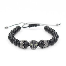 2019 New Design Leopard Head Crown Charm Bracelet Adjustable Braiding Ma... - $12.34