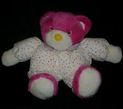 """11"""" Vintage Nanco Pink & White W/ Polka Dots Teddy Bear Stuffed Animal Plush Toy - $32.73"""