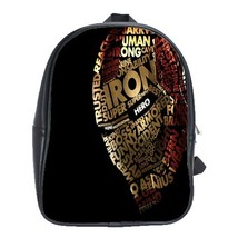 Backpack School Bag Iron Man Face Power In Beautiful Letter Design Marvel Movie  - $33.00