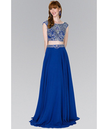 Two-Piece A-Line Long Dress with Jewels - $247.00