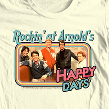 Happy Days T-shirt Rocking at Arnolds Fonzie retro 70's 80's cotton graphic tee image 2
