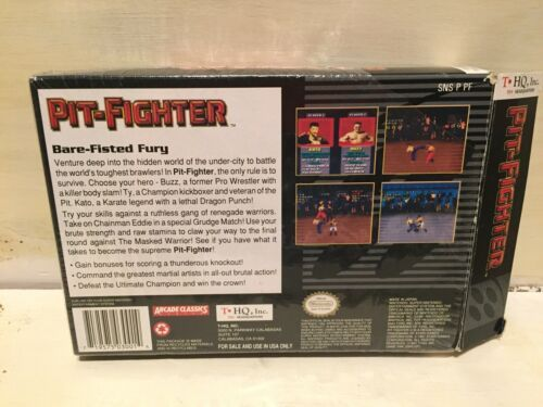 Pit-Fighter (Super Nintendo Entertainment System, 1992) in Box image 3