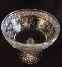 EAPG Antique Indiana Glass Compote Dish, Birds and Strawberries - $75.00