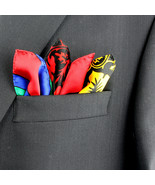 Men's Pocket Square Handkerchief Wedding Fashion Dress Striped Silk Mult... - $19.75