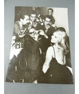 """1960's Actress with group of men photographers press photo 9"""" x 7"""" - $29.70"""