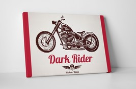 """Dark Rider Motorcycle Pop Art Gallery Wrapped Canvas Print. 30""""x20 or 20""""x16"""" - $42.52+"""