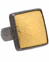 ¦Authentic GURHAN Silver Yellow Gold Amulet Square Ring Size 6.75 »$ 795 - $408.74