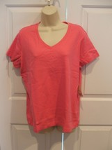Nwt St. Johns Bay Shocking PINK100% Cotton Top Size Xlarge - $14.84
