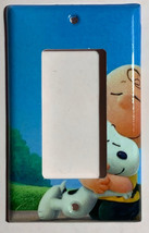 Peanuts Snoopy Charlie Brown Hug Light Switch Power wall Cover Plate Home decor image 3
