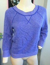 J Crew Italian 100% Cashmere Purple Plaited Sweater XS - $66.49