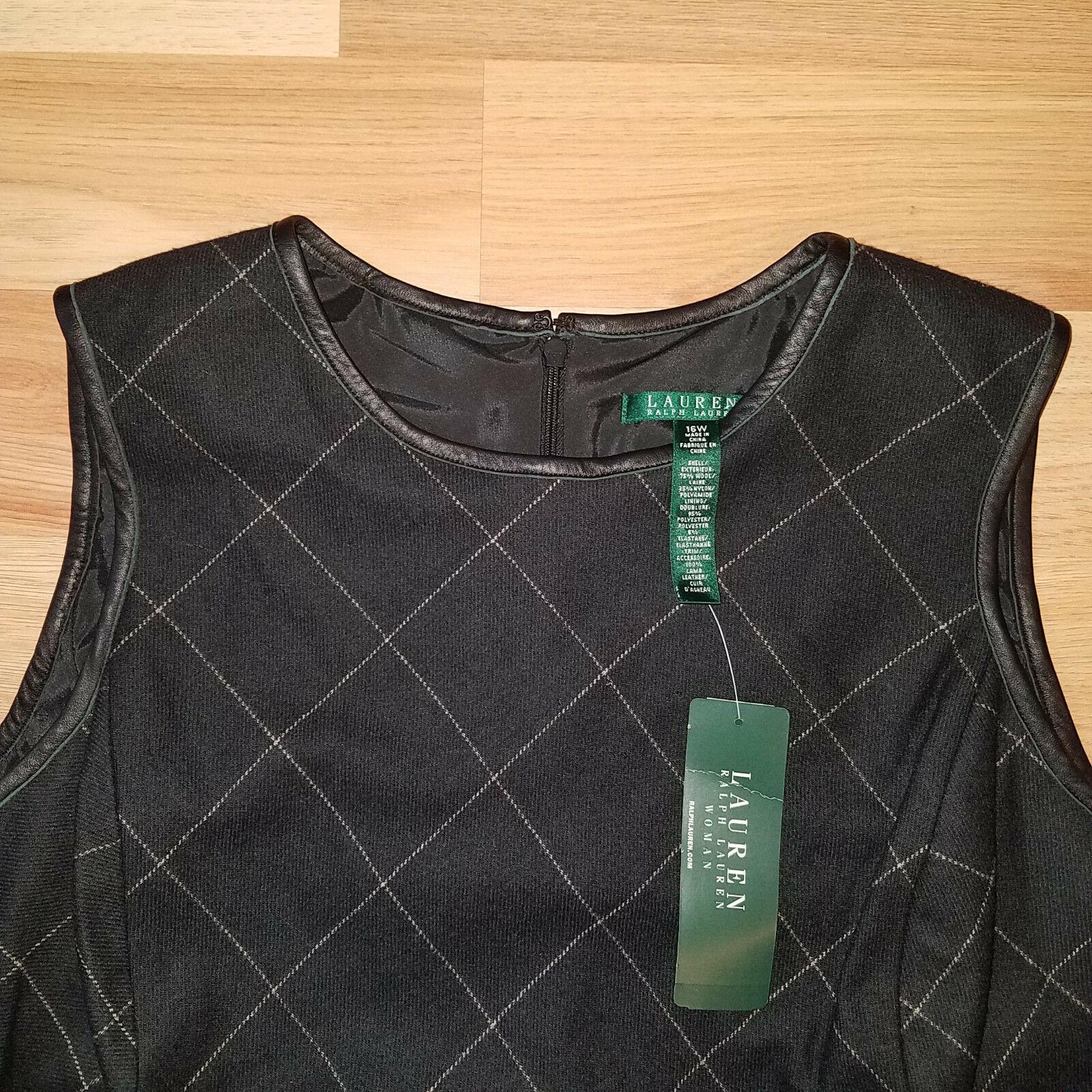 new RALPH LAUREN women sweater vest black 16W - MSRP $185 image 2