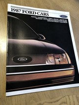 1987 Ford Cars Original Car Dealer Sales Brochure Catalog Mustang Thunderbird .. - $11.10