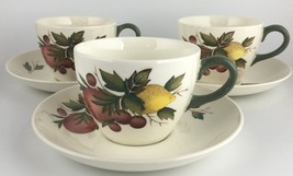 Wedgwood COVENT GARDEN (set of 3) cups & saucers FREE SHIPPING (SKU EC 204) - $25.00