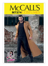 McCall's M7374 Men's Collared and Seamed Coats Sewing Pattern - $9.95