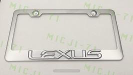 3D Lexus F Sport Stainless Steel License Plate Frame Rust Free W/ Bolt Caps - $22.99