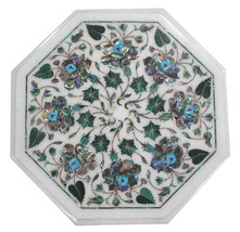1'x1' Marble Coffee Table Top Paua Shell Pietra Dura Inlaid Arts Handmad... - €326,20 EUR