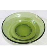Vintage Depression Pressed Avocado Green Glass Collectible Dessert Servi... - $15.99