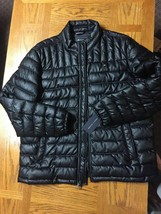 Tommy Hilfiger Men's Quilted Faux-Leather Puffer Jacket XL BLACK HOODLES... - $128.70