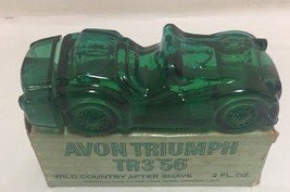 Avon Triumph After Shave TR3'56 Original Box Vintage Green Car - $19.79