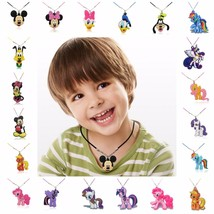 Hot Sell 1PCS PVC Cartoon Figure Mickey Rope Chain Necklace Pendant Cute... - $8.00