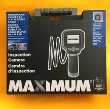"MAXIMUM Inspection Camera Waterproof, LCD Display, Case, 3' 3"" Cable 2x Zoom NIB - $114.83"