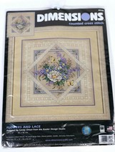 Dimensions Flowers and Lace Counted Cross Stitch Kit Sandy Orton Kooler ... - $66.57