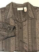 Liz Claiborne Women's Dress Shirt 18W Grey W/White Design Stitch #A4 - $16.99