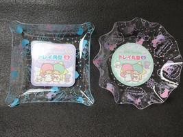 Little Twin Stars Tray Round & Tray Square Kiki LaLa SANRIO - $16.83