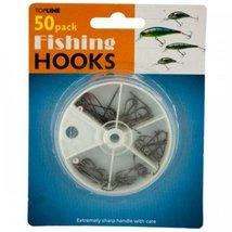 Kole Imports Fishing Hooks Set In Divided Case Reel - $5.40
