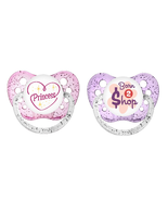 Ulubulu Girl Pacifier Set - Princess & Born To Shop - 0-18 months - 2 Bi... - $12.99