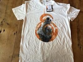 $38 STAR WARS Junk Food T Shirt L Force Awakens BB-8 R2-D2 Rare thin NWT... - $21.38