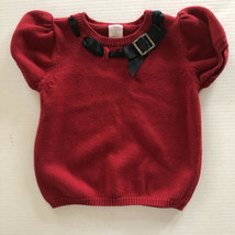 Gymboree Holiday Classics Red with Black Bow Sweater Girl Size 5 - Winter - $14.03