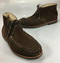 Allen Edmonds Mens 9.5M Hayden Brown Suede Chukka Ankle Boots Gum Soles ... - £93.18 GBP