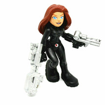 Avengers Super Hero Squad Black Widow Action Figure Earths Mightiest Heroes - $13.40