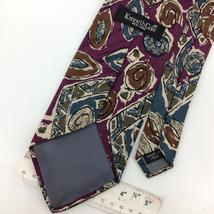 KENNETH COLE Made In Italy ITALY ABSTRACT PURPLE Brown Silk Necktie Ties I8-350 image 3