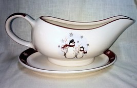 Royal Seasons Snowman Gravy Boat with Underplate - $8.95