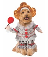 Pennywise Clown It Movie Scary Fancy Dress Up Halloween Dog Cat Pet Costume - $29.45+