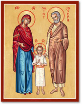 """Holy Family Icon 4.5"""" x 6"""" Wooden Plaques With Lumina Gold - $36.95"""