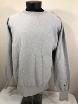 VTG Champion Reverse Weave Sweatshirt Crew Neck Jumper XL 90s Warm Up Grey - $23.99