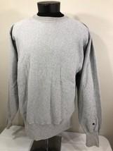 VTG Champion Reverse Weave Sweatshirt Crew Neck Jumper XL 90s Warm Up Grey - $23.99